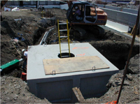 confined space on a construction site
