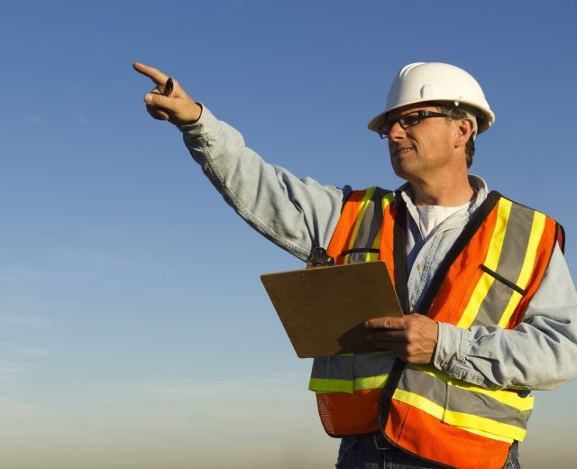 Safety Inspector holding a clipboard