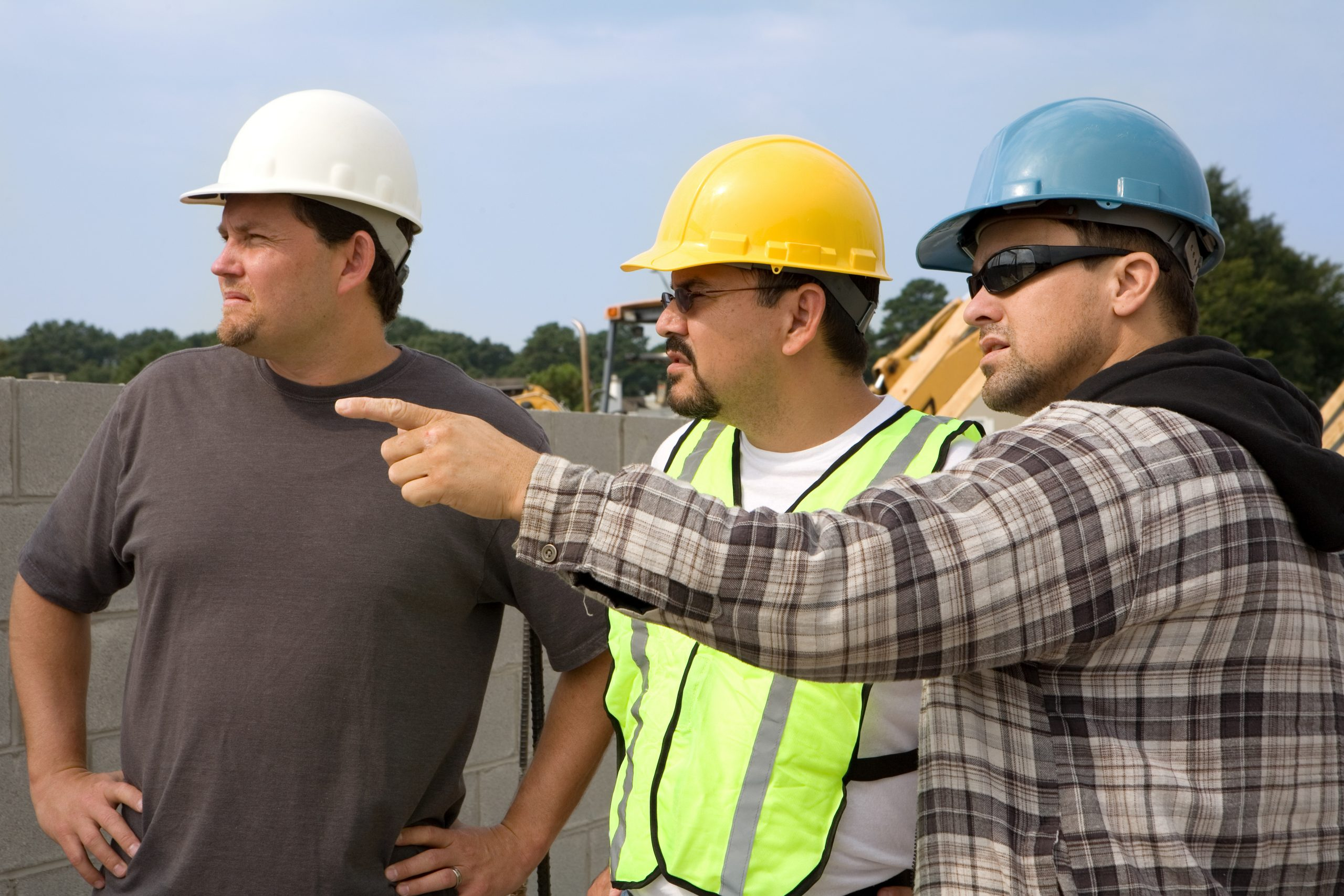 construction men looking at the distance